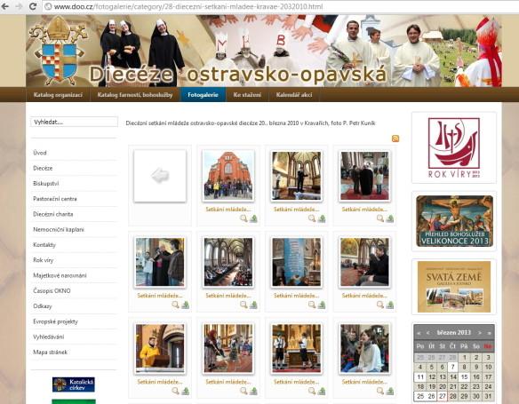 Fotografie ze setkání mládeže na stránkách biskupství