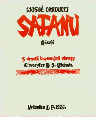 Satanu – báseň s deseti obrazy J. Váchala (1926)